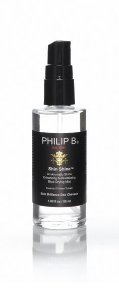 Philip B Shin Shine, $27.00. Cuts the blow-out/flat-iron process to 11 minutes. Just a few pumps erases frizz, wave, unruly curls. Best straightener ever.