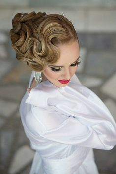 Beautiful finger wave hairstyles with updo for long hair #prom