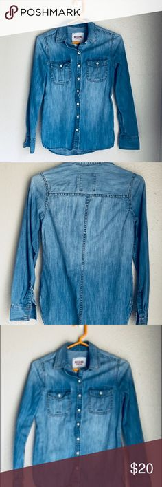 Classic Jean button up. Best shirts for throwing in in summer. Light weight so cute. Tie around waist. Classic jean top. Tops