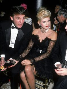 Real Estate Developer Donald Trump Chatting with Wife Ivana