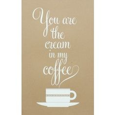 The cream is the best part of the coffee! A lovely print by Hayley & Lucas at the Keep Calm Gallery.