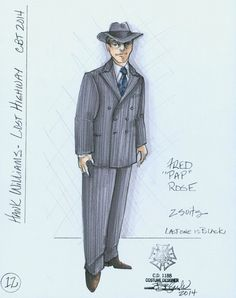 """Hank WIlliams - Lost Highway (Fred """"Pap"""" Rose). Clarence Brown Theatre. Costume design by Bill Black. 2014"""