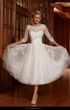 Under the knee wedding dresses
