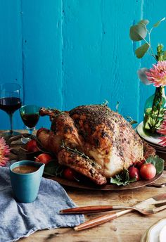 A deliciously moist Herb Roasted Turkey that's surprising easy to make and will be the shining star of your Thanksgiving table! Get the recipe over on www.whatsgabycooking.com (@whatsgabycookin)