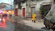 Fuertes lluvias causaron derrumbe de edificios en Mérida