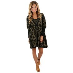 Enjoy a night around the bonfire in this adorable dress!