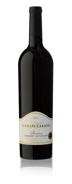 Ferrari-Carano Reserve Cabernet Sauvignon 2012   A classic Cab with intriguing flavors. This is a must-try.