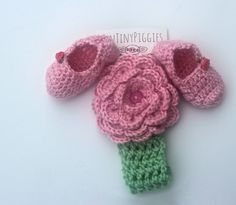 crochet Sassy slipper set with headband