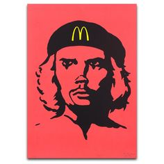 The McRevolutionaries (McChe)   Limited edition CYMK screen print by The Yes Men. The Yes Men have collaborated with us to produce a series of original screenprints that depict the McRevolutionaries – a series of fictional characters that suggest a hybrid between a well know fast food chain mascot and historic revolutionary figures. Part of Dundee Contemporary Arts Editions programme.