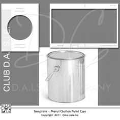 Template for Gallon Size Metal Paint Can, Altered Paint Can Templates, - Free Printables, Free Graphics, Free Kits, Free Digital Clip Art, Graphics and Backgrounds for Scrapbooking, Gina Jane Designs - DAISIE Company