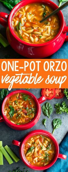 Orzo Vegetable Soup - Peas And Crayons This Orzo Vegetable Soup is a quick and easy one-pot wonder and a delicious way to warm up on a cold day!This Orzo Vegetable Soup is a quick and easy one-pot wonder and a delicious way to warm up on a cold day! Chili Recipes, Veggie Recipes, Dinner Recipes, Cooking Recipes, Healthy Recipes, Cooking Games, Pasta Recipes, Recipe Pasta, Salad Recipes