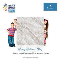 """""""Children Spread Fragrance of love wherever they go"""" Happy Children's Day ! Children's Day Wishes, Vitrified Tiles, Happy Children's Day, Child Day, Porcelain Ceramics, Vibrant, Outdoor Blanket, Fragrance, Events"""