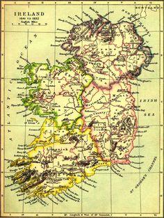 Old Map of IRELAND, I will go here, I will!!
