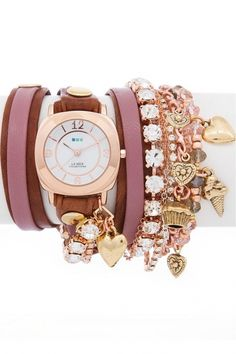 LMMULTI2008 - La Mer Collection Champagne Crystals dames horloge