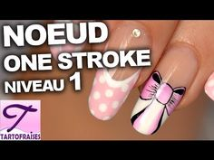 Tuto nail art noeud one stroke girly sur french manucure