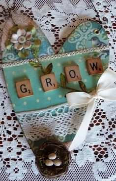 Grow Altered Heart Wall Hanging by myvintagewhimsies on Etsy
