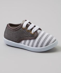 Gray & White Stripe Sneakers   Daily deals for moms, babies and kids