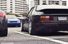 Stanced Porsche 944