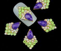 2 pcs of elegant purple 3d nail art decoration by GlamourFavor