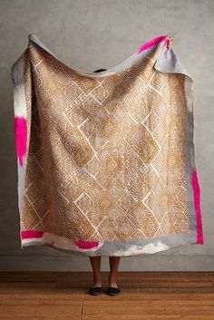 Anthropologie Hand-Felted Lhasa Throw #anthrofave