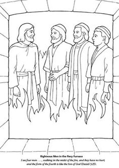 Fiery furnace bible coloring page daniel pinterest for Daniel and the fiery furnace coloring page