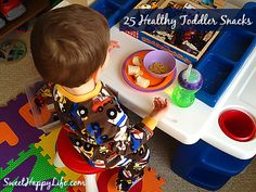 Do you want your toddler eating healthy from the start? Take a look at this great list of 25 Healthy Snacks for Toddlers!