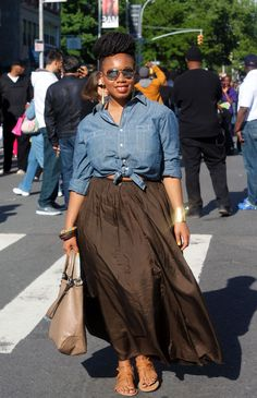 Chambray and Skirt