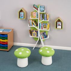 Children love these cute toadstools, perfectly formed and just the right height for little ones.