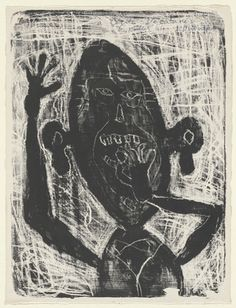 Jean Dubuffet. Man Eating a Small Stone (Homme mangeant une petite pierre). 1944