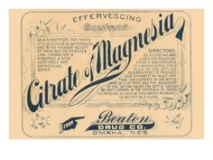 Citrate Magnesia Premium Poster