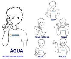 Vamos Aprender Libras? | Centro de Educação para Surdos Rio Branco Sign Language Book, Middle School, Brazil, Activities, Comics, Learning, Libra 2017, Languages, Curly Blonde