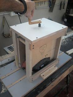 Mira lo que hice: cepilladora electrica de banco casera