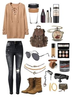 Untitled #209 by thesixx on Polyvore featuring polyvore, fashion, style, Wet Seal, Warner Bros., BKE, Witchery, Clinique, Maybelline, MAC Cosmetics, Urban Decay, Ilia, Manic Panic NYC, KeepCup and clothing