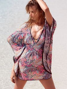 Plunge-front Caftan: dune paisley (1 of 2)