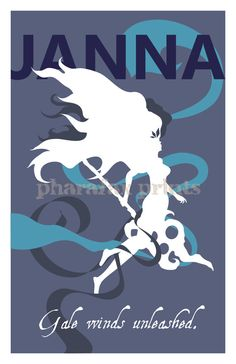 Janna League of Legends Print by pharafax on Etsy, $14.00