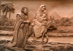 Flight To Egypt, Carved From Lime - flight to egypt wood carving lime wood depth perspective