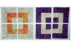 Use Disappearing quilt pattern techniques to sew this easy Disappearing Bento Box quilt block pattern. Similar to making a Disappearing Nine Patch.