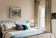 Beacon Hill Brownstone - Elms Interior Design - Master Bedroom, Tufted Upholstered Headboard
