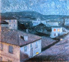 Night in Nice -  Edvard Munch  1891  National art Museum, Oslo