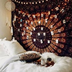 These college dorm room essentials are everything you need for your freshman dorm room. These dorm room tips are the best things to buy for your room. Bohemian Bedroom Design, Boho Room, Bohemian Style Bedrooms, Tapestry Bedroom Boho, Hanging Tapestry, Dorm Room With Tapestry, Bohemian Decor, Bohemian Bedroom Diy, Gypsy Bedroom