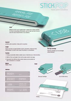 Stick POP Portable Printer by Jihun Kang, Youngho Lee, Jieun Lee & Changsu Lee » Yanko Design
