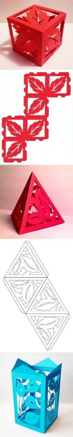 Discover thousands of images about Plantilla para crear piezas inusuales de papel Kirigami, Hobbies And Crafts, Diy And Crafts, Arts And Crafts, Foam Crafts, Origami Paper, Diy Paper, Origami Cards, Diy Origami