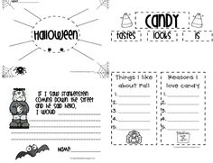Halloweenish Writing Freebie - First Grade Blue Skies