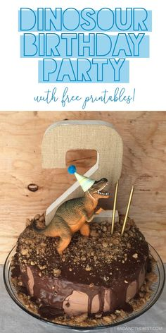 Dinosaur Birthday Party with free excavation kit printables! Dinosaur birthday party, boy birthday party, party ideas, activities for kids, kids party games, party food, Dinosaur party, excavation kit