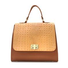 Marlafiji Torna Croc Leather Print & Suede Bag