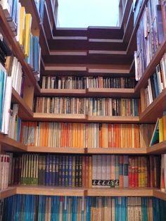 Veronika and Sebastian's House Tour : Apartment Therapy  (book shelf stairs!)