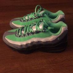 Basically new air max 95. *Youth size* Green, tan, and black air max 95s. Basically new only worn a handful of times. Very comfortable shoes!!! Youth size 5.5 Nike Shoes