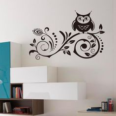 Vakind Black Owl Removable Art Vinyl Wall Sticker Decal Room Home Decor DIY $8.99