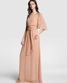 Vestido de mujer Tintoretto en color nude con strass