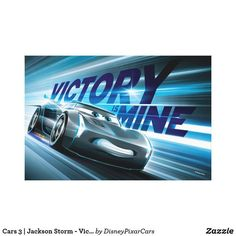 Canvas Print. . . Cars 3 | Jackson Storm - Victory is Mine Blinded by a new generation of blazing fast racers, the legendary Ligntning McQueen is suddenly pushed out of the sport he loves. To get back in the game, he will need the help of an eager young race technician who has her own plan to win, inspiration from the Fabulous Hudson Hornet. Proving that #95 isn't through yet, this Piston Cup will test the heart of a champion on racing's biggest stage. See more on my board.